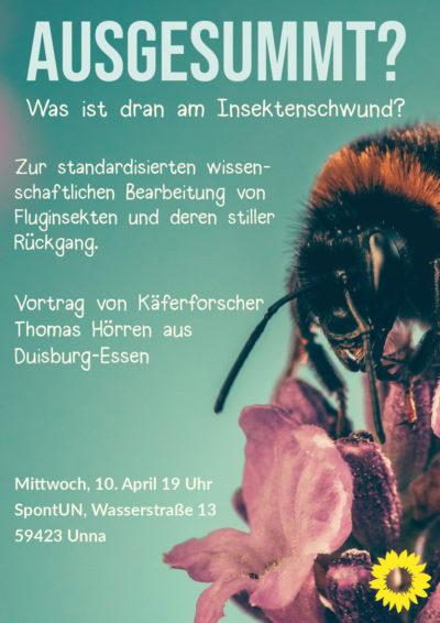 Insektensterben. Käferforscher Thomas Hörren im grünen Salon @ SpontUN