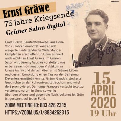Neu am 15.4. im Internet: Ernst Gräwe vor 75 Jahren ermordet. @ Digitales SpontUn